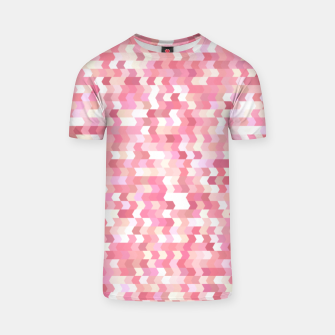 Solid arrows in soft pink shades, cute baby flush pink pattern T-shirt Bild der Miniatur