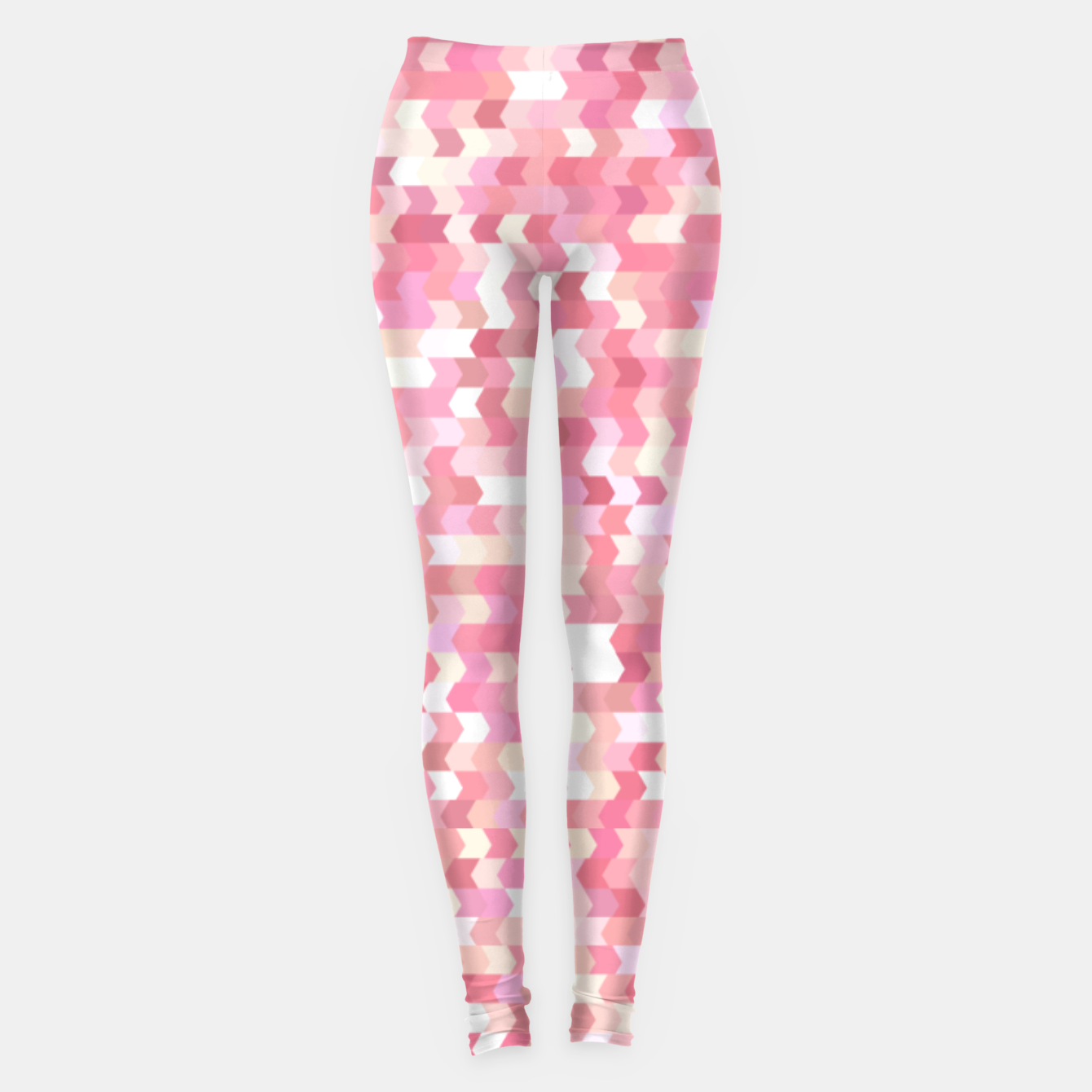 Foto Solid arrows in soft pink shades, cute baby flush pink pattern Leggings - Live Heroes