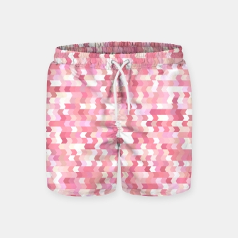 Solid arrows in soft pink shades, cute baby flush pink pattern Swim Shorts Bild der Miniatur