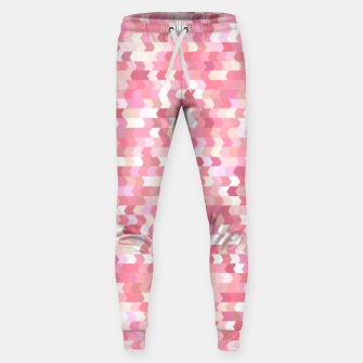 Solid arrows in soft pink shades, cute baby flush pink pattern Sweatpants Bild der Miniatur