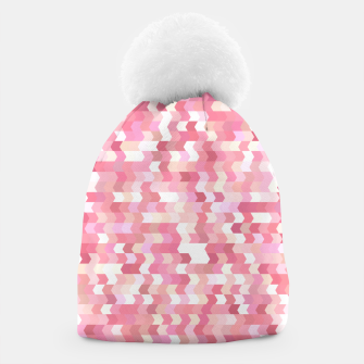 Solid arrows in soft pink shades, cute baby flush pink pattern Beanie Bild der Miniatur