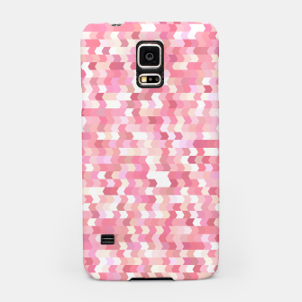 Solid arrows in soft pink shades, cute baby flush pink pattern Samsung Case Bild der Miniatur