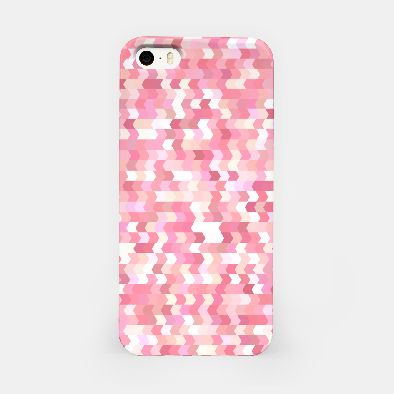Foto Solid arrows in soft pink shades, cute baby flush pink pattern iPhone Case - Live Heroes
