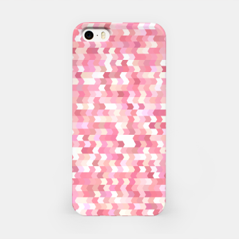 Miniature de image de Solid arrows in soft pink shades, cute baby flush pink pattern iPhone Case, Live Heroes
