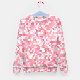 Solid arrows in soft pink shades, cute baby flush pink pattern Kid's sweater Bild der Miniatur