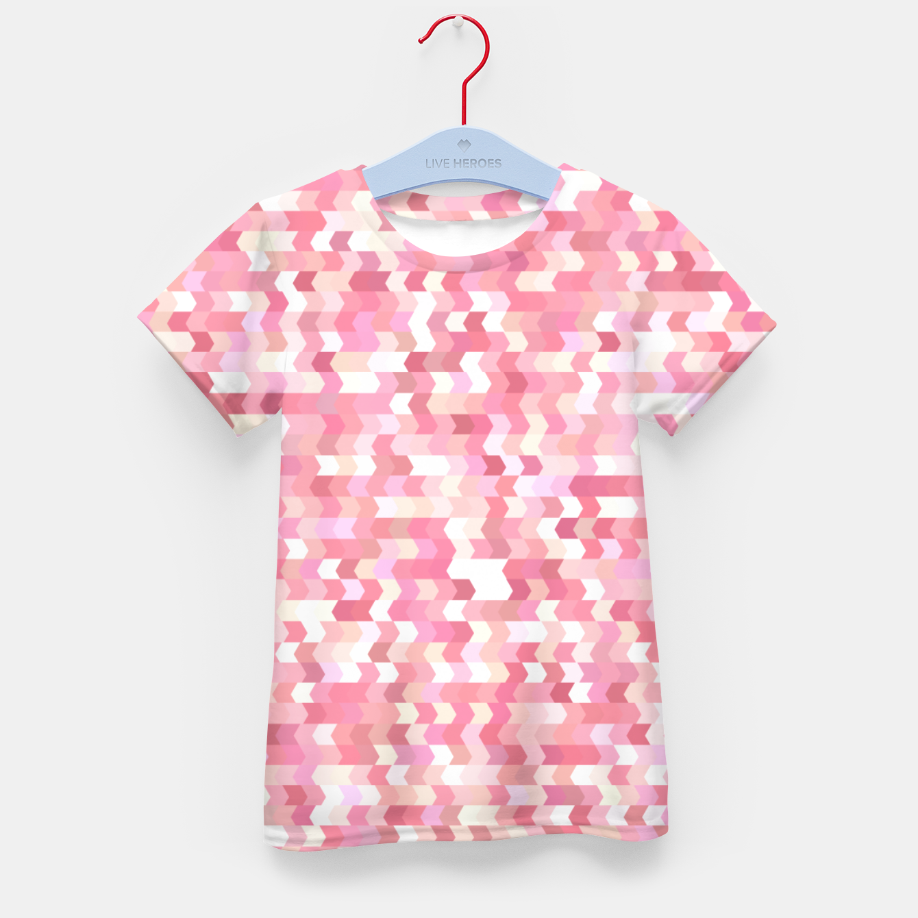 Foto Solid arrows in soft pink shades, cute baby flush pink pattern Kid's t-shirt - Live Heroes