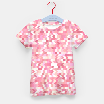 Solid arrows in soft pink shades, cute baby flush pink pattern Kid's t-shirt Bild der Miniatur