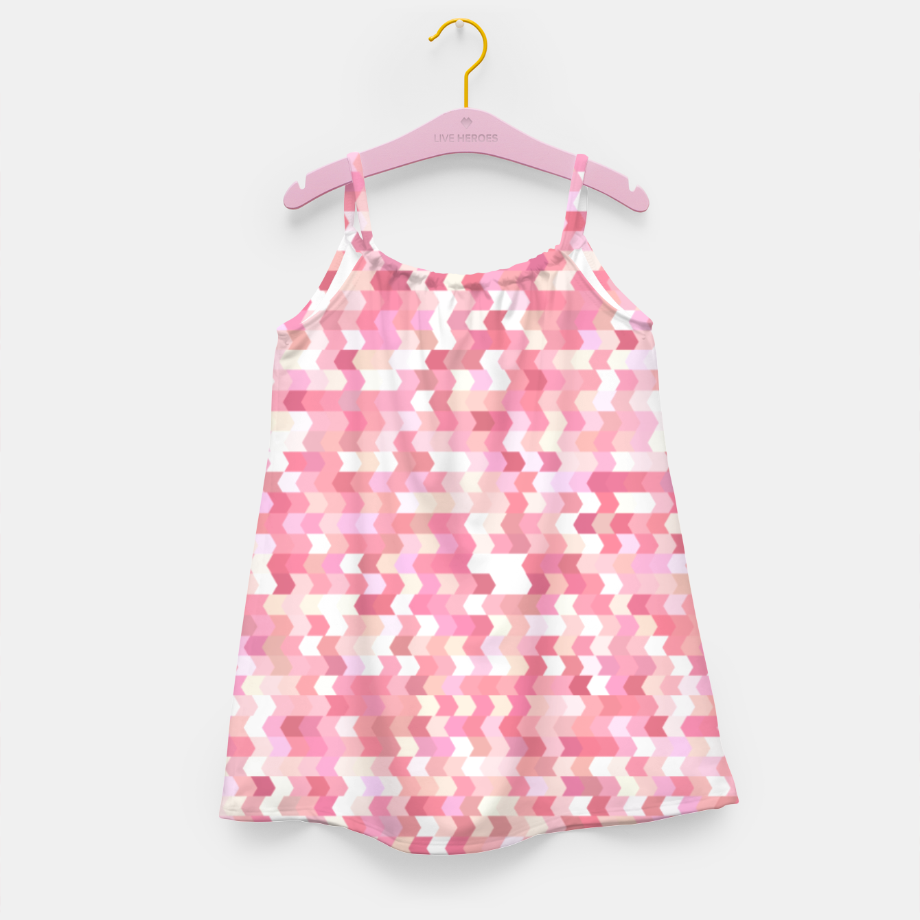 Foto Solid arrows in soft pink shades, cute baby flush pink pattern Girl's dress - Live Heroes