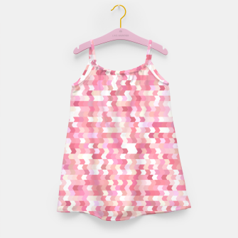 Miniatur Solid arrows in soft pink shades, cute baby flush pink pattern Girl's dress, Live Heroes