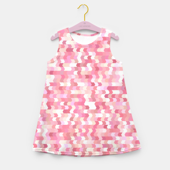 Solid arrows in soft pink shades, cute baby flush pink pattern Girl's summer dress Bild der Miniatur
