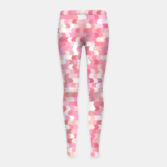Solid arrows in soft pink shades, cute baby flush pink pattern Girl's leggings Bild der Miniatur