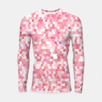 Solid arrows in soft pink shades, cute baby flush pink pattern Longsleeve rashguard  Bild der Miniatur