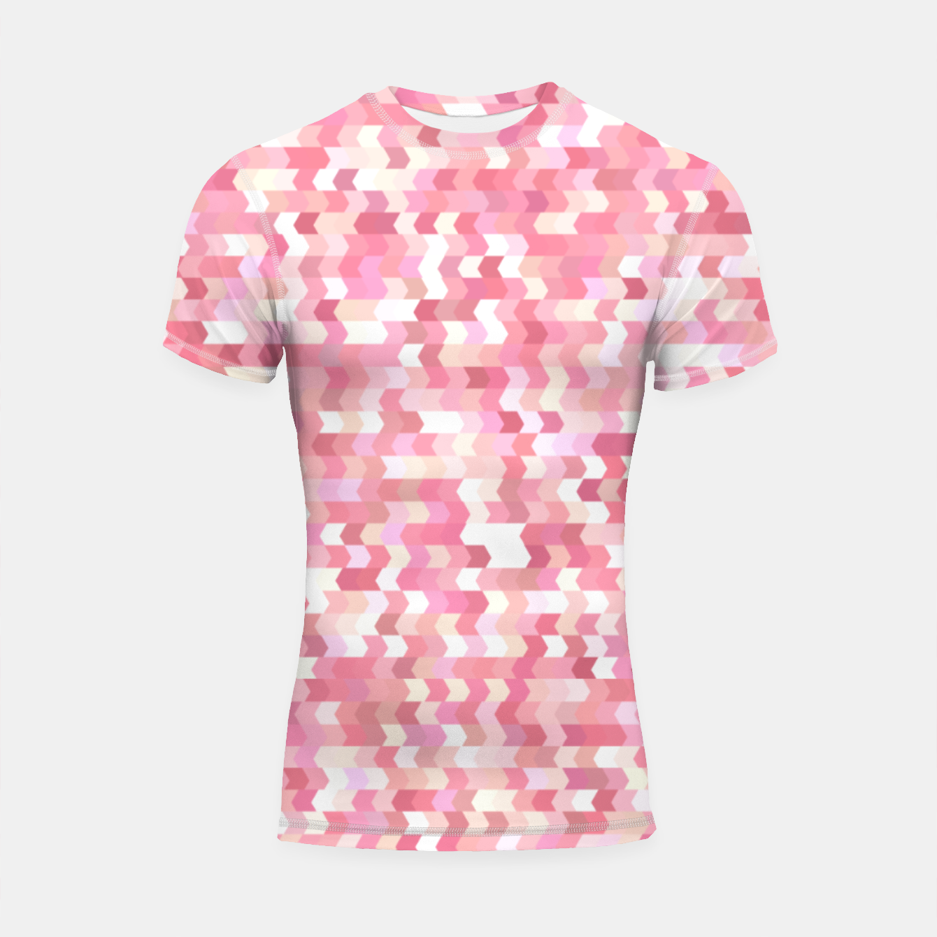 Foto Solid arrows in soft pink shades, cute baby flush pink pattern Shortsleeve rashguard - Live Heroes