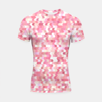 Solid arrows in soft pink shades, cute baby flush pink pattern Shortsleeve rashguard Bild der Miniatur