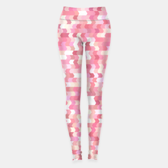 Solid arrows in soft pink shades, cute baby flush pink pattern Leggings Bild der Miniatur