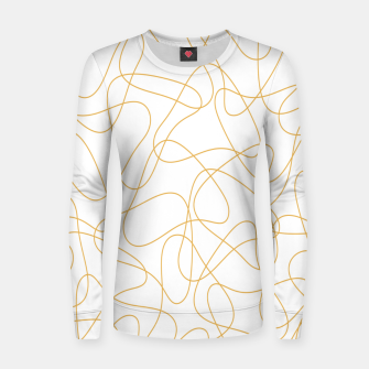 Miniaturka Abstract pattern - bronze and white. Women sweater, Live Heroes