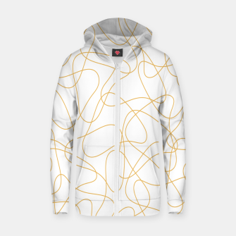 Miniaturka Abstract pattern - bronze and white. Zip up hoodie, Live Heroes