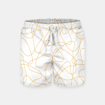 Miniaturka Abstract pattern - bronze and white. Swim Shorts, Live Heroes