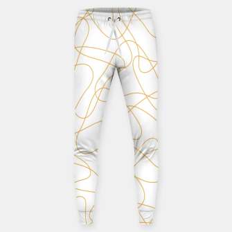 Thumbnail image of Abstract pattern - bronze and white. Sweatpants, Live Heroes