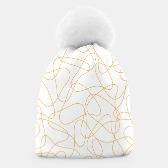 Miniatur Abstract pattern - bronze and white. Beanie, Live Heroes