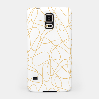 Miniatur Abstract pattern - bronze and white. Samsung Case, Live Heroes