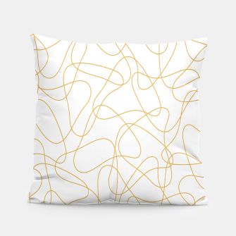 Miniatur Abstract pattern - bronze and white. Pillow, Live Heroes
