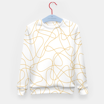Miniatur Abstract pattern - bronze and white. Kid's sweater, Live Heroes