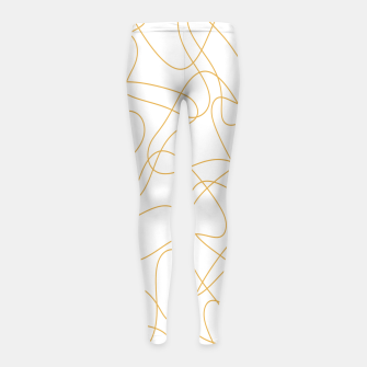 Miniatur Abstract pattern - bronze and white. Girl's leggings, Live Heroes