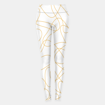 Miniatur Abstract pattern - bronze and white. Leggings, Live Heroes
