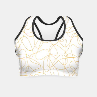 Miniatur Abstract pattern - bronze and white. Crop Top, Live Heroes