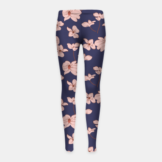 Thumbnail image of Dark Tropical Floral 01 Leggings para niña, Live Heroes