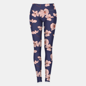 Thumbnail image of Dark Tropical Floral 01 Leggings, Live Heroes