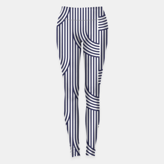 Miniatur Blue retro lines 63 Leggings, Live Heroes