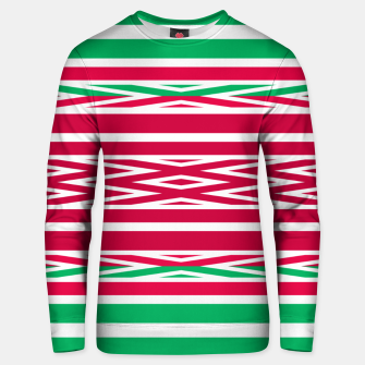 Thumbnail image of Christmas decor red green white ornament decor Unisex sweater, Live Heroes