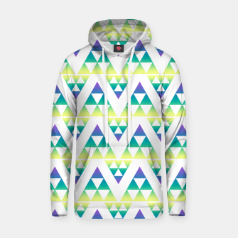 Thumbnail image of Geometric abstract decor triangles shapes colorful blue green summer colors Hoodie, Live Heroes