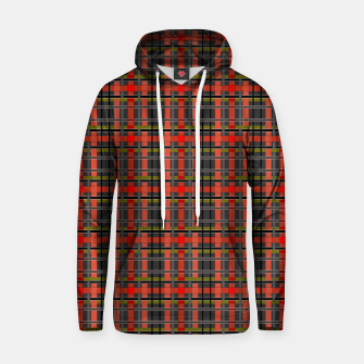Imagen en miniatura de Gray orange plaid tartan checkered scottish red black Hoodie, Live Heroes