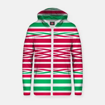 Thumbnail image of Christmas decor red green white ornament decor Zip up hoodie, Live Heroes