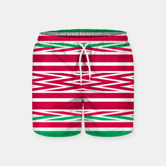 Thumbnail image of Christmas decor red green white ornament decor Swim Shorts, Live Heroes