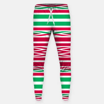 Thumbnail image of Christmas decor red green white ornament decor Sweatpants, Live Heroes