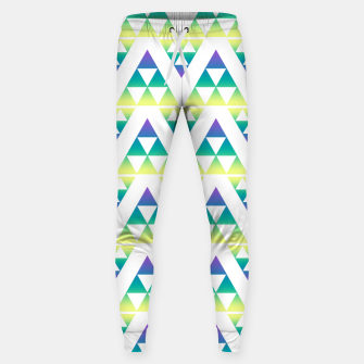 Thumbnail image of Geometric abstract decor triangles shapes colorful blue green summer colors Sweatpants, Live Heroes