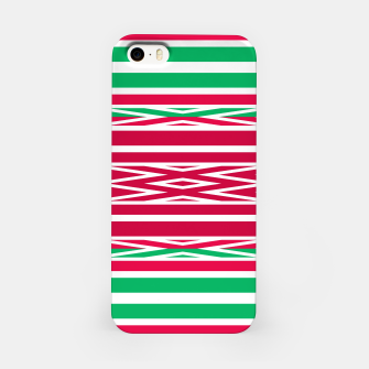 Thumbnail image of Christmas decor red green white ornament decor iPhone Case, Live Heroes
