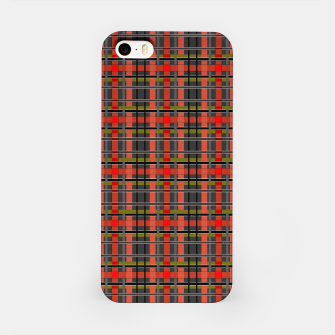 Imagen en miniatura de Gray orange plaid tartan checkered scottish red black iPhone Case, Live Heroes