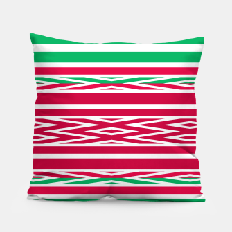 Thumbnail image of Christmas decor red green white ornament decor Pillow, Live Heroes
