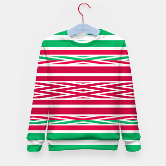 Thumbnail image of Christmas decor red green white ornament decor Kid's sweater, Live Heroes