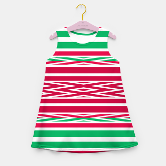 Thumbnail image of Christmas decor red green white ornament decor Girl's summer dress, Live Heroes