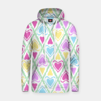 Miniatur Multi Colored hearts ornament pastel kids childish scribble design Hoodie, Live Heroes