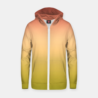 Miniature de image de Coral olive Ombre gradient summer mango green tropical colors Zip up hoodie, Live Heroes