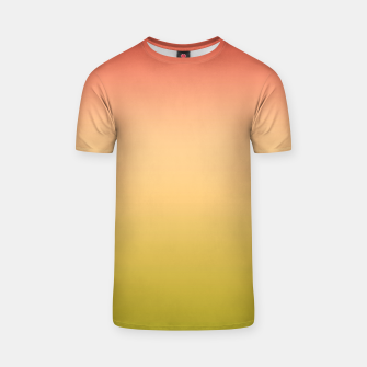 Miniature de image de Coral olive Ombre gradient summer mango green tropical colors T-shirt, Live Heroes