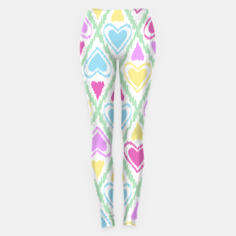 Thumbnail image of Multi Colored hearts ornament pastel kids childish scribble design Leggings, Live Heroes