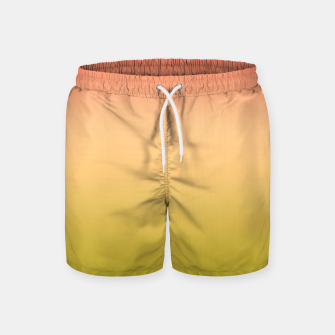 Miniature de image de Coral olive Ombre gradient summer mango green tropical colors Swim Shorts, Live Heroes